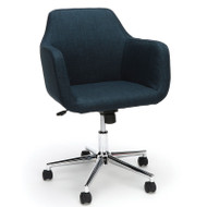 OFM Essentials Series Upholstered Home Office Chair Blue Fabric - ESS-2085-BLU