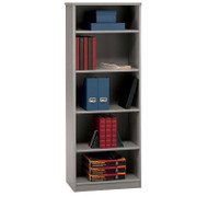 "Bush Business Furniture Series A Bookcase 5-Shelf 66"" Pewter - WC14565"