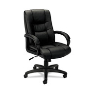 Basyx Black Vinyl Executive High-Back Chair - VL131EN11