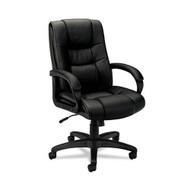 Basyx Black Vinyl Executive High-Back Chair - VL131EN11