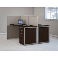 "Bush Furniture Easy Office Straight Desk 60"" 2-Person with Mobile File Pedestals - EOD460SMR-03K"