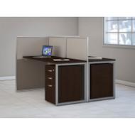 "Bush Furniture Easy Office Straight Desk 60"" 2-Person with Mobile File Pedestals - EOD460SMR-03K"