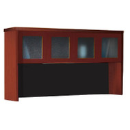"Mayline Aberdeen Hutch with Glass Doors 72"" Cherry Finish - AHG72-LCR"