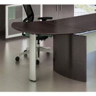 Mayline Medina Curved Desk Extension Right Mocha - MNEXTR-LDC