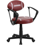 Flash Furniture Football Task Chair with Arms - BT-6181-FOOT-A-GG