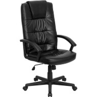 Flash Furniture High Back Black LeatherSoft Executive Office Chair - GO-7102-GG