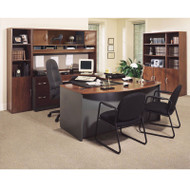 Bush Business Furniture Series C Package Executive U-Shaped Bowfront Desk Hansen Cherry - HCPackageD