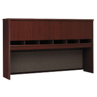 "Bush Business Furniture Series C Desk Hutch 4-Door 72"" Mahogany - WC36777K"