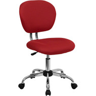 Flash Furniture Mid-Back Red Mesh Task Chair with Chrome Base - H-2376-F-RED-GG