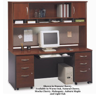 Bush Business Furniture Series C Package Credenza Computer Workstation - SC1