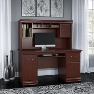 Bush Birmingham Executive Collection Computer Desk with Hutch - WC26620-03K