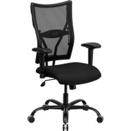 Flash Furniture Hercules Series High-Back Black Mesh Chair with Arms - WL-5029SYG-A-GG