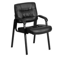 Flash Furniture Black Guest / Reception Chair with Black Frame Finish - BT-1404-GG