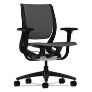 HON Purpose Series Mid-Back Work Chair Black Frame, Iron Ore Fabric - RW101ONCU19