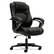 Basyx by HON Executive High-Back Chair Black Vinyl - VL402SB11