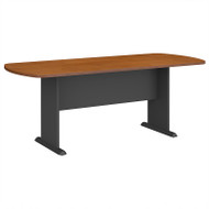 Bush Business Furniture Series A & C 79W x 34D Racetrack Oval Conference Table in Natural Cherry - TR57484A
