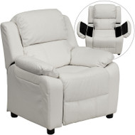 Flash Furniture Kid's Recliner with Storage White Vinyl  - BT-7985-KID-WHITE-GG