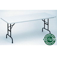 Correll R-Series Heavy Duty Blow-Molded Plastic Folding Table Adjustable Height 30 x 60 - RA3060