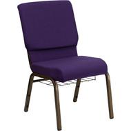Flash Furniture Hercules Series 18.5 Royal Purple Fabric Chair with Book Basket - FD-CH02185-GV-ROY-BAS-GG