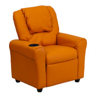 Flash Furniture Kid's Recliner with Cup Holder Orange Vinyl - DG-ULT-KID-ORANGE-GG
