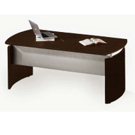 "Mayline Medina Laminate Executive Desk 72"" Mocha - MND72-LDC"