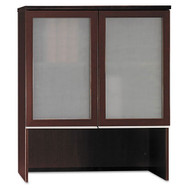 Bush Milano2 Collection Bookcase Hutch With Glass Doors Harvest Cherry - 50HS36CS