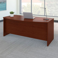 "Bush Business Furniture Series C Desk Bowfront in Mahogany 72""W x 36""D - WC36746"