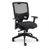 Alera Epoch Mesh Mid-Back Swivel / Tilt Multifunctional Chair Black - EP42ME10B