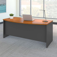 "Bush Business Furniture Series C Desk Bowfront in Natural Cherry 72""W x 36""D - WC72446"