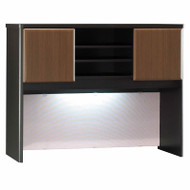 "Bush Business Furniture Series A Desk Hutch 48"" Sienna Walnut - WC25549P"