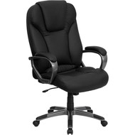 Flash Furniture High Back Black Leather Executive Office Chair - BT-9066-BK-GG