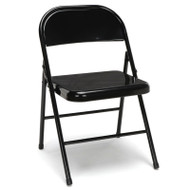 OFM Essentials Metal Folding Chairs, Black (4-Pack) - ESS-8200-BLK