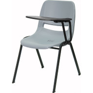 Flash Furniture Gray Plastic Shell-Chair with Left Tablet - RUT-EO1-GY-LTAB-GG
