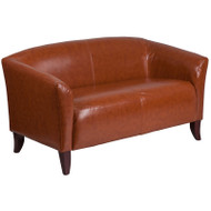 Flash Furniture Hercules Imperial Series Cognac LeatherSoft Loveseat - 111-2-CG-GG