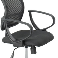 Safco Vue Mesh Extended-Height Chair Loop Arms - 3396BL