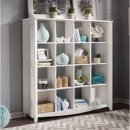 Bush Furniture Aero Bookcase / Room Divider 16-Cubed White - MY16103-03