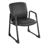 Safco Uber Big and Tall Guest Chair Black Vinyl - 3492BV