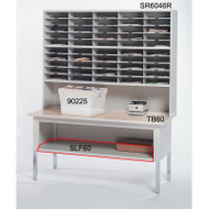 "Mayline Mailflow-To-Go Work Table Shelf, 60""W - SLF60"