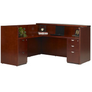 Mayline Mira Reception Desk Station with Return 72W x 36D x 43 1/2H Medium Cherry - MRSRBF-MC