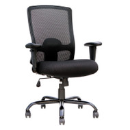 Eurotech by Raynor Big and Tall Mesh Back Chair with Fabric Seat - BT-350