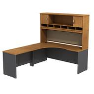 Bush Business Furniture Series C Package Executive L-Shaped Desk Left Natural Cherry - SRC002NCL