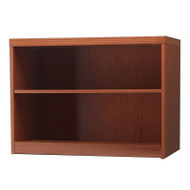 Mayline Aberdeen Bookcase 2-Shelf Cherry Finish - AB2S36-LCR