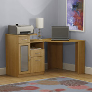 Bush Vantage Corner Computer Desk Light Dragonwood - HM66315A-03