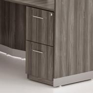 Mayline Medina Laminate Pedestal Drawer for Reception Desk (File/File) Assembled, Gray Steel - MNRFF-LGS