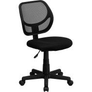 Flash Furniture Mid-Back Black Mesh Task Chair and Computer Chair - WA-3074-BK-GG