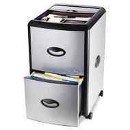 Storex Mobile Filing Cabinet with Metal Siding - 61352U01C