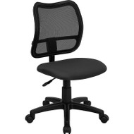 Flash Furniture Mid Back Mesh Task Chair with Gray Fabric Seat - WL-A277-GY-GG
