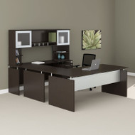 "Mayline Medina Laminate Executive 72"" Desk U-Shaped Package Mocha - MNT39-LDC"