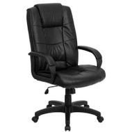 Flash Furniture High Back Black Leather Executive Office Chair - GO-5301B-BK-LEA-GG