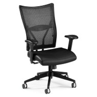 OFM Talisto Series Executive Mid-Back Leather Seat Mesh Back Chair - 591-L